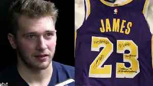 Luka Doncic Gifted LeBron James Jersey After Losing To Lakers [Video]