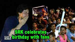 SRK celebrates his birthday with fans [Video]