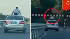 Chinese teen killed by sign after sticking body out of car roof [Video]