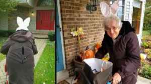 91-Year-Old Great-Grandmother Goes Trick-Or-Treating for the First Time [Video]