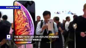 The Battery Life on Future iPhones Is Going to Get Worse [Video]