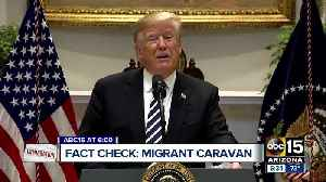 Fact checking President Trump's statements on migrant caravan [Video]