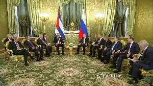 Russia's Putin holds talks with Cuba's Miguel Diaz-Canel [Video]