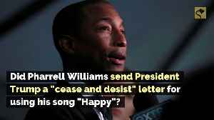 Did Pharrell Williams Send President Trump a 'Cease and Desist' Letter for Using His Song 'Happy'? [Video]