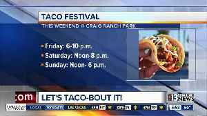 Taco festival and Day of the Dead events [Video]