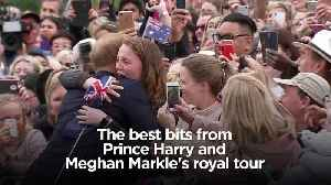 News video: The best bits from Prince Harry and Meghan Markle's royal tour