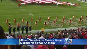 49ers Cheerleader Kneels During National Anthem Before Thursday's Game [Video]