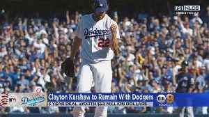 Kershaw, Dodgers Agree To 3-Year, $93M Deal [Video]