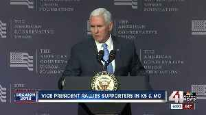 Vice president rallies supporter in KS, MO [Video]