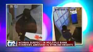 Woman suspected in multiple bank robberies arrested in Sterling Heights [Video]