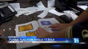 Armstrong's Purdue flag sells for $42,000 in auction [Video]