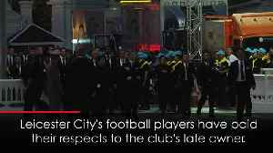 Leicester City attend late owner's funeral in Thailand [Video]