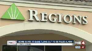 Bomb scare at bank determined false alarm [Video]
