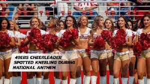 NFL Cheerleader Takes The Knee [Video]