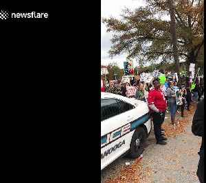 Protesters gather outside Trump Chattanooga rally [Video]