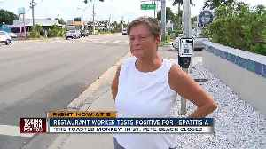 Local beach bar worker tests positive for Hep A [Video]