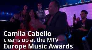 Camila Cabello cleans up at the MTV Europe Music Awards [Video]
