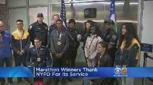 NYC Marathon Winners Thank NYPD For Their Service [Video]