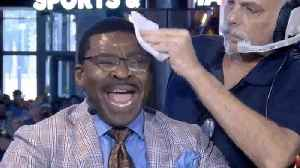 Michael Irvin Loses His mind & Sweats Like Crazy Arguing For Cowboys Against Stephen A. Smith [Video]