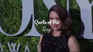 Quote of the Day – Tina Fey [Video]