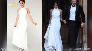 Meghan Markle's Reception Dress Replica Available for About $99,955 Less Than the Original [Video]
