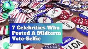 7 Celebrities Who Posted A Midterm Vote-Selfie [Video]