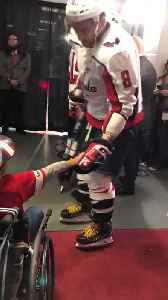 Ovechkin gives his stick to young fan in wheelchair [Video]