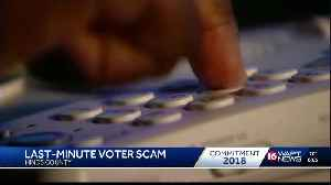 Voters warned about poll location scam [Video]