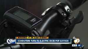 Commuters turn to electric bikes for savings [Video]