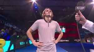 Tsitsipas satisfied with victory [Video]