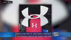 Under Armour Nixes Strip-Club Visits On The Company's Dime: Report [Video]