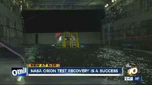 NASA Orion test recovery is a success [Video]