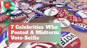Celebs Who Posted Midterm Voting Selfies [Video]