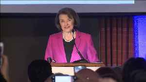 Feinstein: 'This is the greatest honor in my life.' [Video]