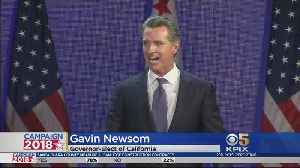 ELECTION 2018: Gavin Newsom Elected Governor Of California [Video]
