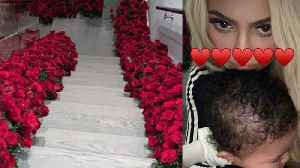 Travis Scott Surprises Kylie Jenner By Covering Entire House With Flowers! Proposal Or Pregnancy? [Video]