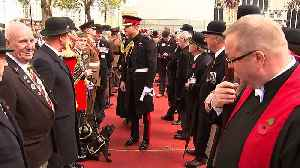 Prince Harry lays Cross of Remembrance at Westminster Abbey [Video]