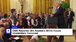 CNN Reporter Jim Acosta's White House Credentials Removed [Video]