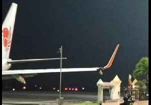 Lion Air Plane Hits Pole Before Take-Off [Video]