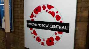 News video: Walthamstow Central station unveils new poppy roundel ahead of Remembrance Day