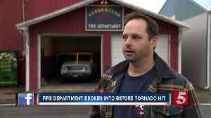 Fire department discovers break-in while responding to tornado damage [Video]