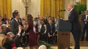 News video: CNN reporter banned after Trump exchange