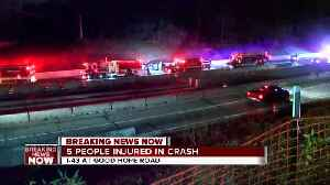 Five hospitalized in two-car crash on I-43 [Video]