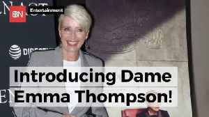She Became Dame Emma Thompson At Buckingham Palace Today [Video]