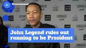 What...John Legend Rules Out Being President [Video]
