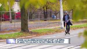Ford acquires scooter start-up, plans to launch it in Detroit [Video]