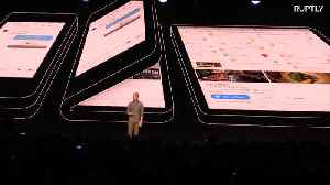 USA: Foldable phone revealed by Samsung at San Francisco conference [Video]