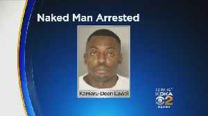 Police: Naked Man Arrested After Jumping On Moving Cars, Yelling At Officers [Video]