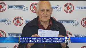 News video: Red Sox Fan Wins $100,000 Mass Cash Lottery Prize By Playing Jersey Numbers