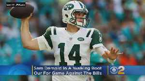 Darnold Spotted In Walking Boot, May Miss Jets' Game Against Bills On Sunday [Video]
